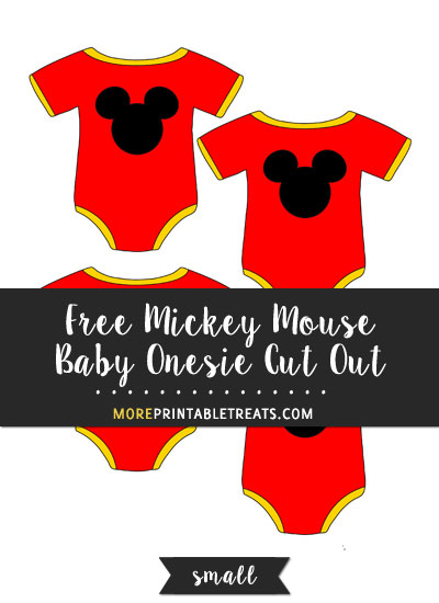 Free Mickey Mouse Baby Onesie Cut Out - Small
