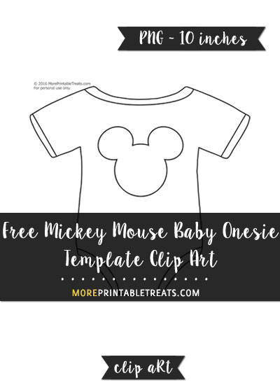 Free Mickey Mouse Baby Onesie Template - Clipart