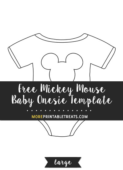 Free Mickey Mouse Baby Onesie Template - Large