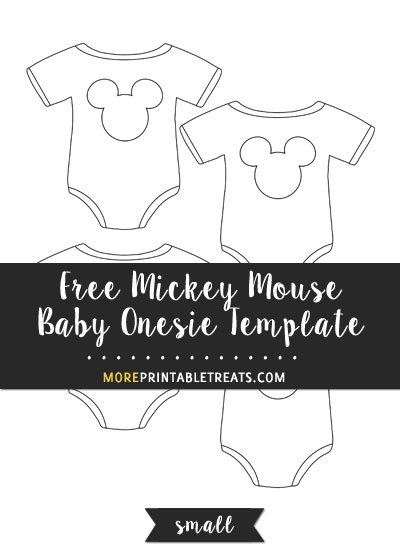 Free Mickey Mouse Baby Onesie Template - Small Size