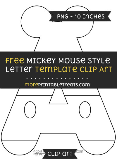 Free Mickey Mouse Style Letter A Template - Clipart