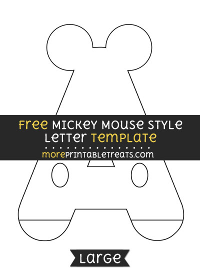 Free Mickey Mouse Style Letter A Template - Large