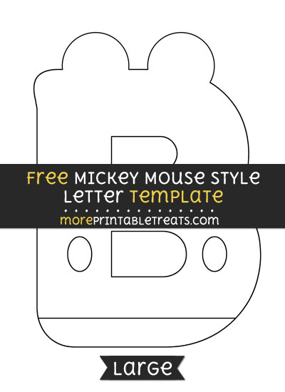 Free Mickey Mouse Style Letter B Template - Large