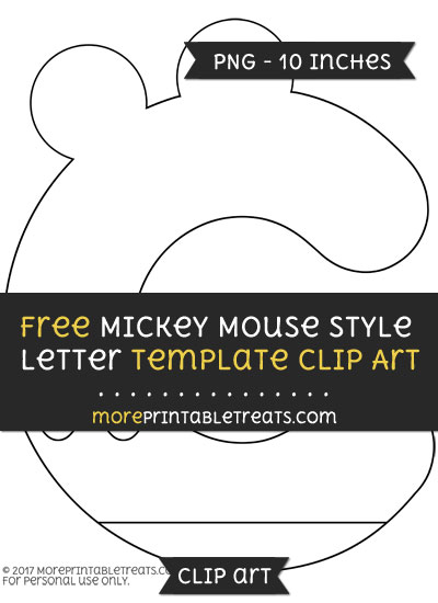 Free Mickey Mouse Style Letter C Template - Clipart