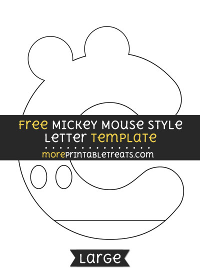 Free Mickey Mouse Style Letter C Template - Large