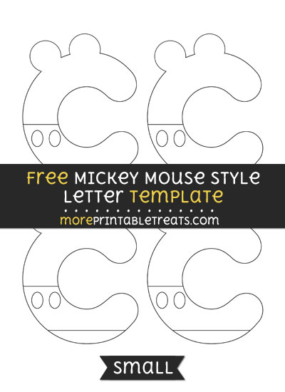 Free Mickey Mouse Style Letter C Template - Small