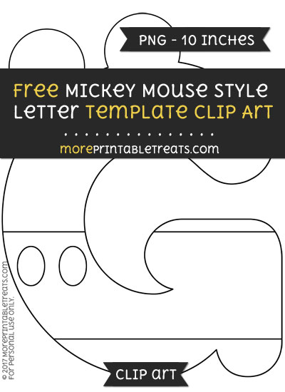 Free Mickey Mouse Style Letter G Template - Clipart