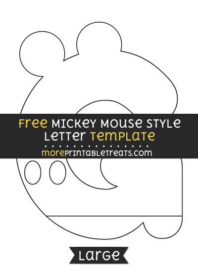 Free Mickey Mouse Style Letter G Template - Large