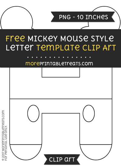 Free Mickey Mouse Style Letter H Template - Clipart