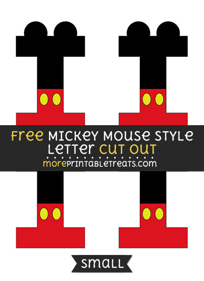 Free Mickey Mouse Style Letter I Cut Out - Small Size Printable