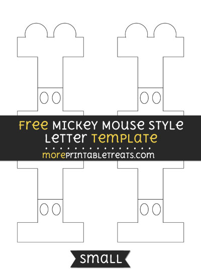 Free Mickey Mouse Style Letter I Template - Small