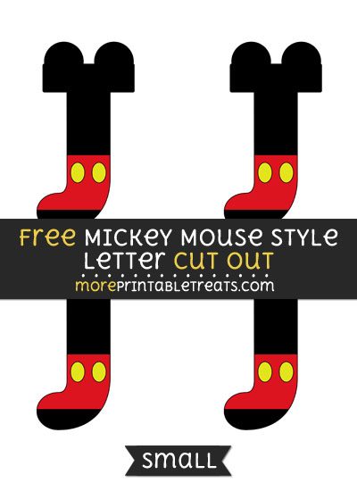 Free Mickey Mouse Style Letter J Cut Out - Small Size Printable