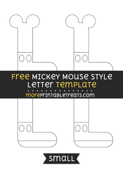 Free Mickey Mouse Style Letter L Template - Small