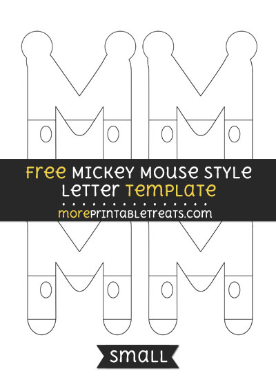 Free Mickey Mouse Style Letter M Template - Small