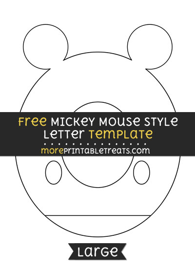 Free Mickey Mouse Style Letter O Template - Large