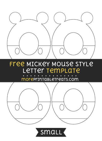 Free Mickey Mouse Style Letter O Template - Small