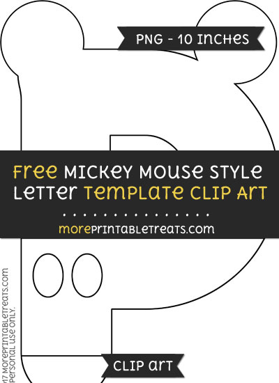 Free Mickey Mouse Style Letter P Template - Clipart