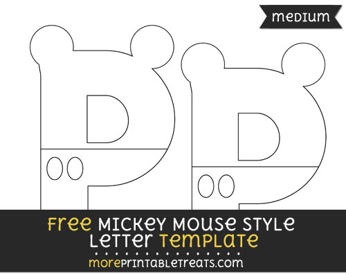 Free Mickey Mouse Style Letter P Template - Medium