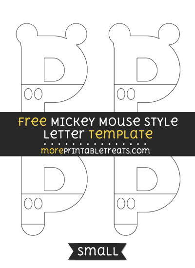 Free Mickey Mouse Style Letter P Template - Small