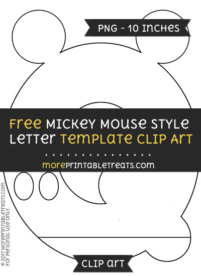 Free Mickey Mouse Style Letter Q Template - Clipart
