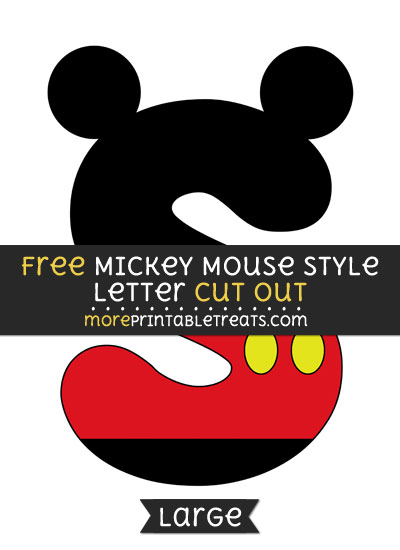 Free Mickey Mouse Style Letter S Cut Out - Large size printable