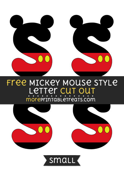 Free Mickey Mouse Style Letter S Cut Out - Small Size Printable
