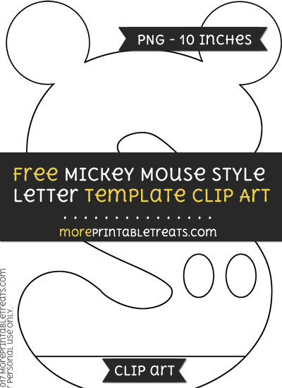 Free Mickey Mouse Style Letter S Template - Clipart