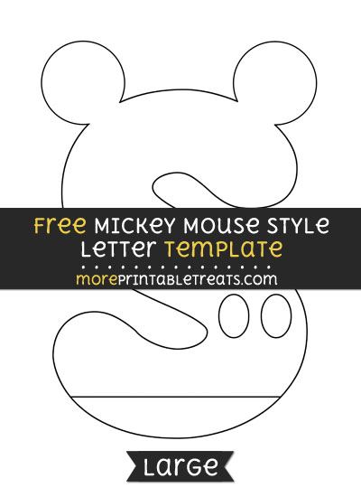 Free Mickey Mouse Style Letter S Template - Large
