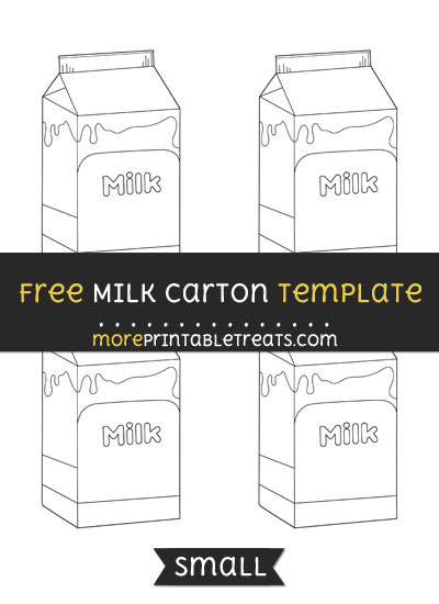 Free Milk Carton Template - Small
