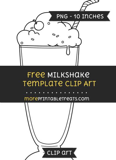 Free Milkshake Template - Clipart
