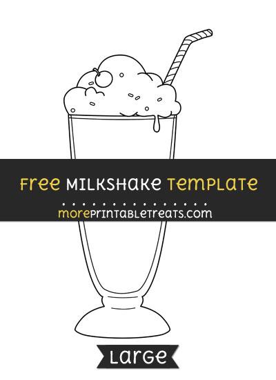 Free Milkshake Template - Large