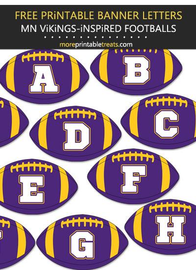 Free Printable Minnesota Vikings-Inspired Football Alphabet