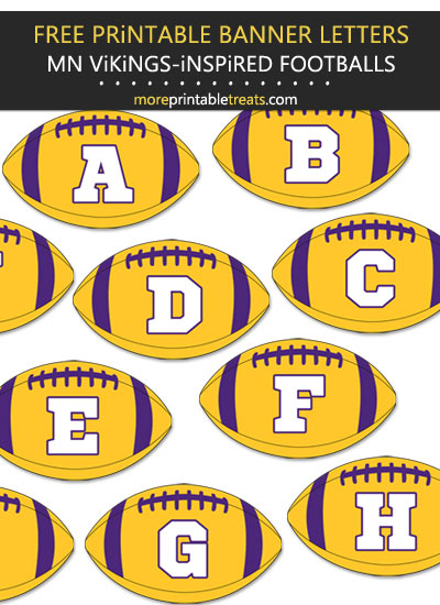 Free Printable Minnesota Vikings-Inspired Football Bunting Banner