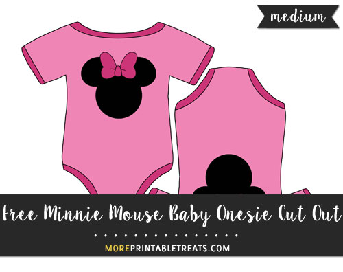 Free Minnie Mouse Baby Onesie Cut Out - Medium