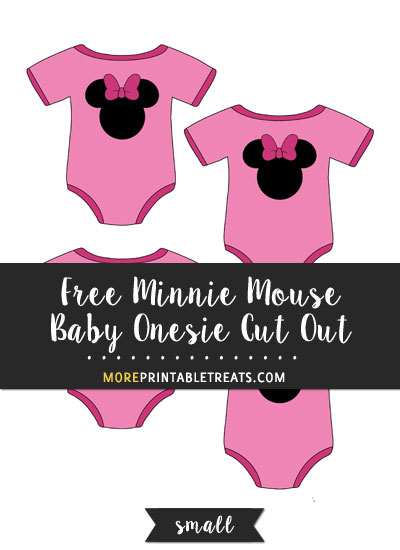 Free Minnie Mouse Baby Onesie Cut Out - Small