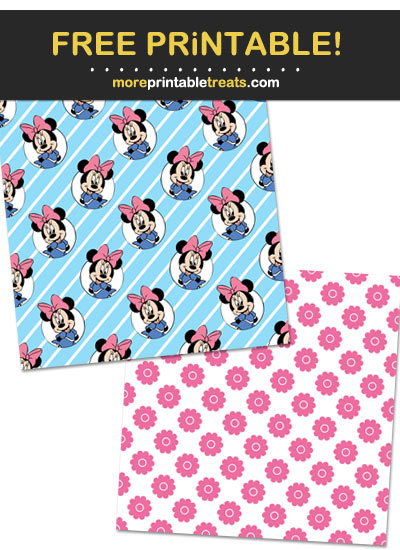 Free Printable Minnie Mouse Scrapbook Papers
