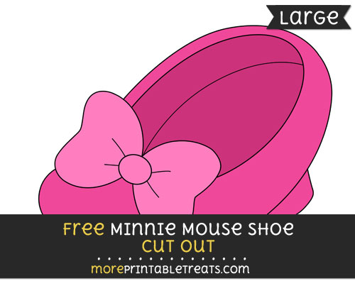 Free Minnie Mouse Shoe Cut Out - Large size printable