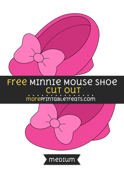 Free Minnie Mouse Shoe Cut Out - Medium Size Printable