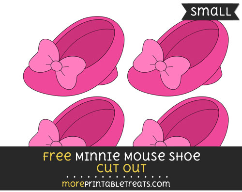 Free Minnie Mouse Shoe Cut Out - Small Size Printable