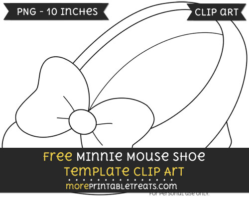Free Minnie Mouse Shoe Template - Clipart