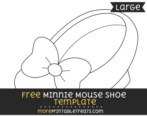 Free Minnie Mouse Shoe Template - Large