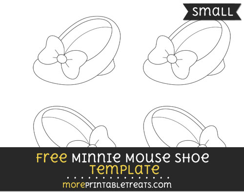 Free Minnie Mouse Shoe Template - Small