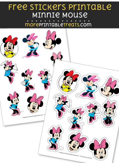 FREE Minnie Mouse Stickers Printable to Print at Home