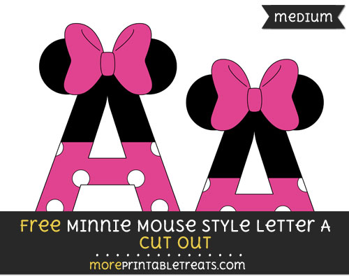 Free Minnie Mouse Style Letter A Cut Out - Medium Size Printable