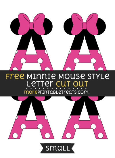 Free Minnie Mouse Style Letter A Cut Out - Small Size Printable