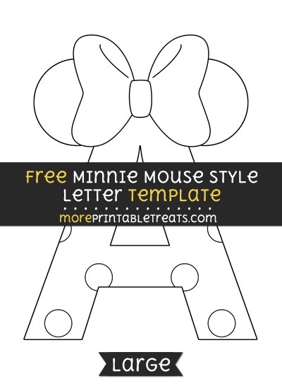 Free Minnie Mouse Style Letter A Template - Large