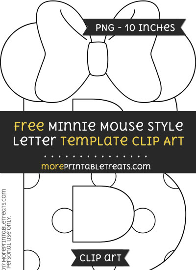 Free Minnie Mouse Style Letter B Template - Clipart