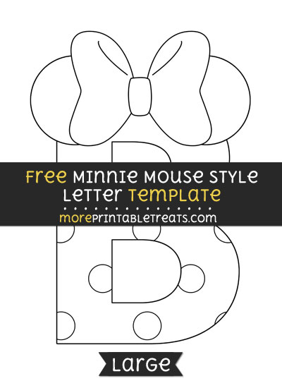 Free Minnie Mouse Style Letter B Template - Large