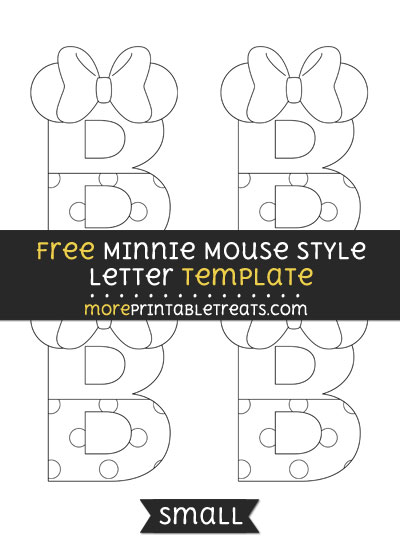 Free Minnie Mouse Style Letter B Template - Small