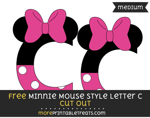 Free Minnie Mouse Style Letter C Cut Out - Medium Size Printable